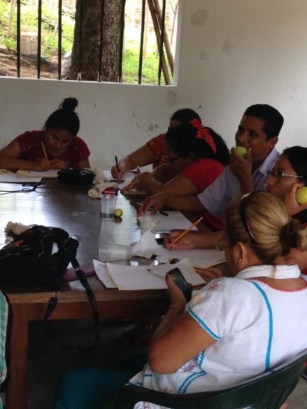 Participantes del taller en Ometepec, Guerrero.