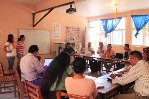 Participantes del taller Tlapa de Comonfort, Guerrero.